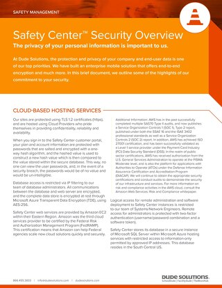 Safety Center Security Overview