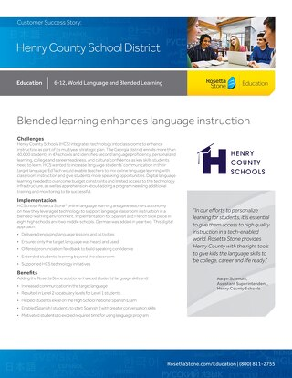 [Case Study] Henry County School District