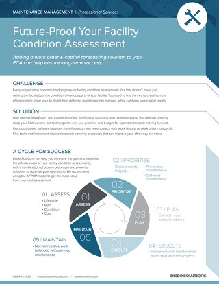 Facility Condition Assessment Datasheet