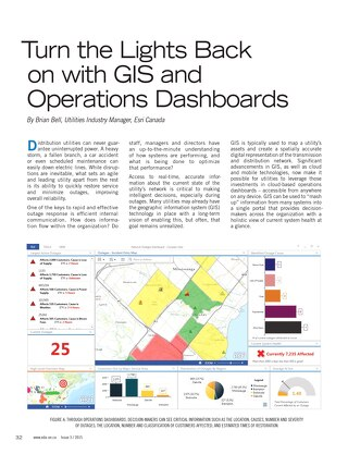 Turn the Lights Back On with GIS and Operations Dashboards