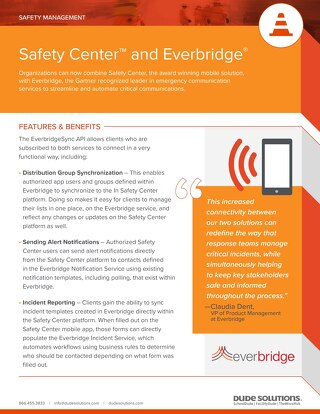 Safety Center & Everbridge Datasheet