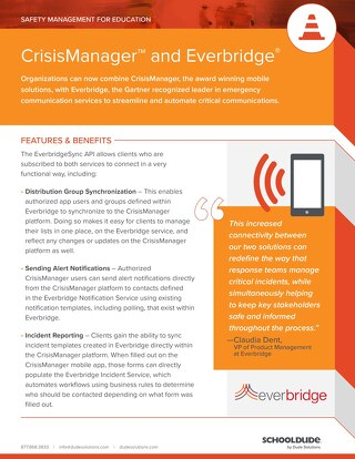 CrisisManager & Everbridge Datasheet
