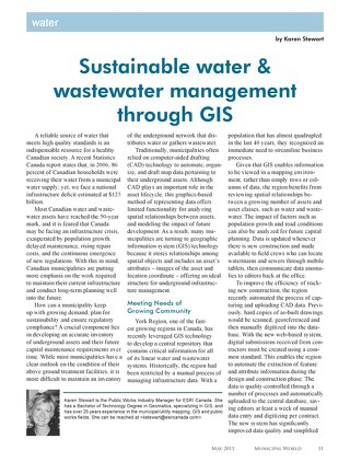 Sustainable Water & Wastewater Management Through GIS