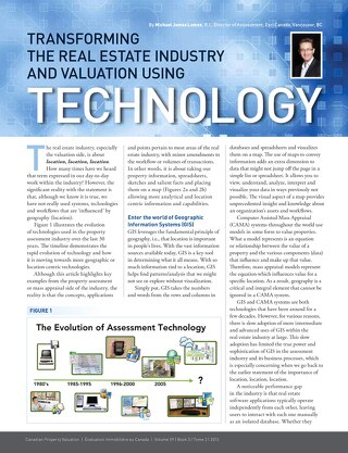Transforming the Real Estate Industry and Valuation Using Technology