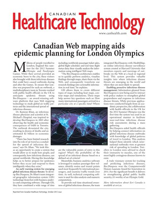 Canadian Web Mapping Aids Epidemic Planning for London Olympics