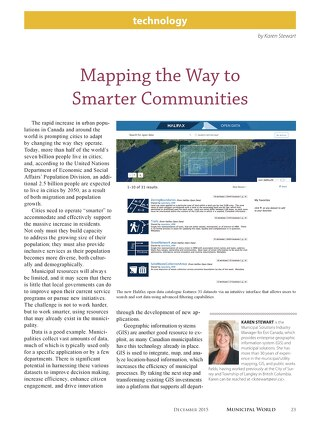 Mapping the Way to Smarter Communities