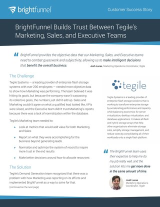 Tegile - Customer Success Story