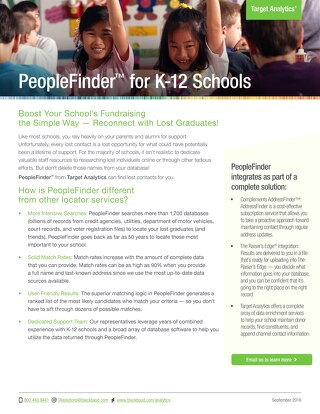 PeopleFinder for K-12 Schools