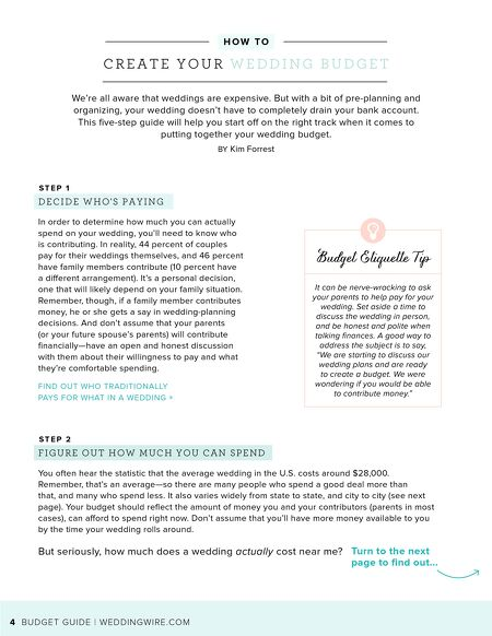 weddingwire weddingwire budget guide 2017