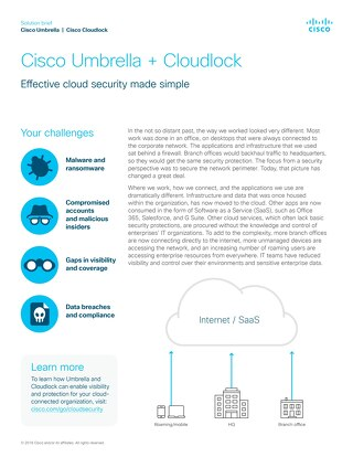Cisco Umbrella + Cloudlock