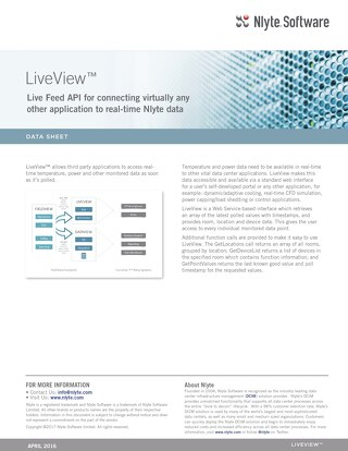 Nlyte LiveView™ Data Sheet