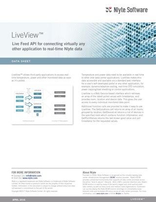 Nlyte LiveView™ Data Sheet