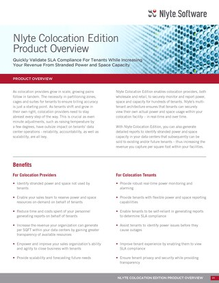 Nlyte Colocation Edition Product Overview 11.28.17