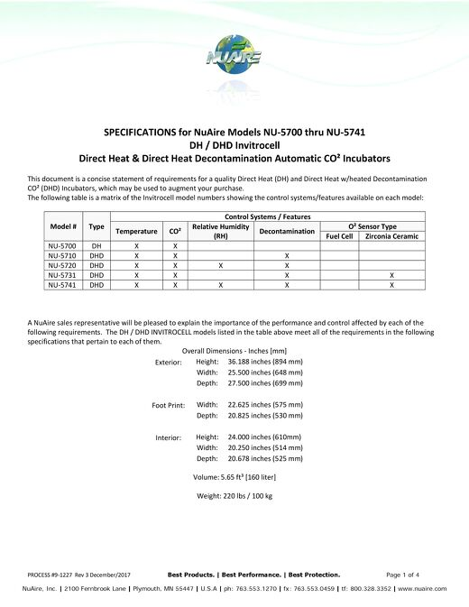 NU-5700 Series Specification