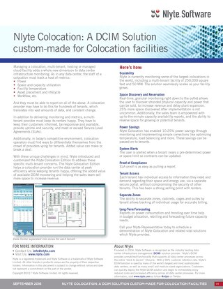 Nlyte Colocation: A data center infrastructure management (DCIM) Solution Custom-Made for Colocation Facilities
