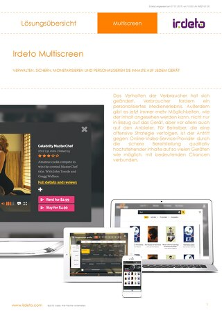 Irdeto Multiscreen - German
