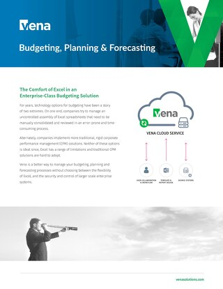 Vena for Budgeting, Planning & Forecasting