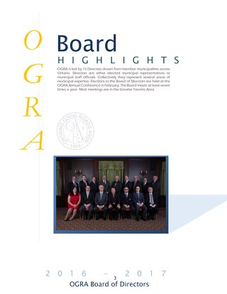 January 2017 Board Highlights