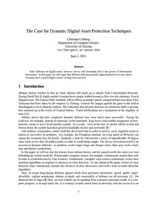 White paper: Dynamic digital asset protection techniques