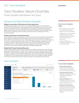 Cisco Cloudlock: Secure Cloud Data