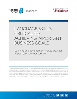 Language Skills Critical to Achieving Important Business Goals