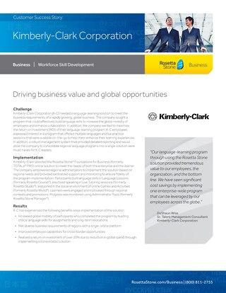 [Case Study] Kimberly-Clark Corporation