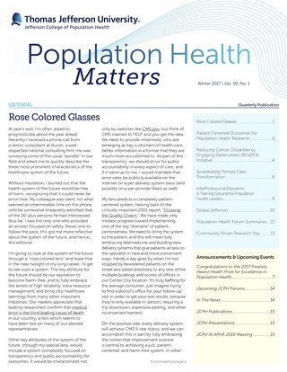 Population Health Matters Winter 2017