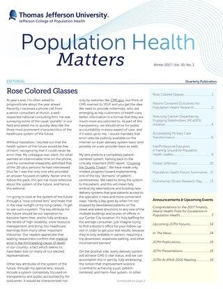 Population Health Matters Winter 2017