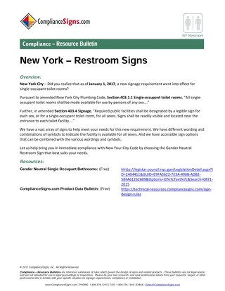 New York City Single-user Restrooms