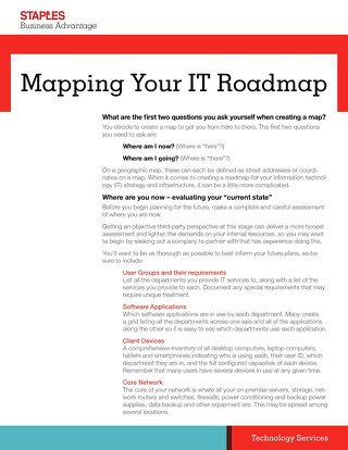 Mapping Your IT Roadmap