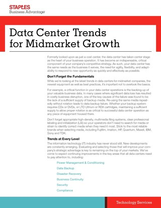 Data Center Strategies for Midmarket Firms