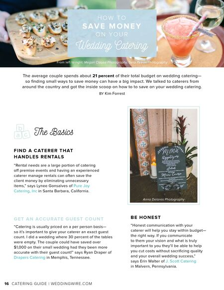 Weddingwire weddingwire catering guide contents of this issue junglespirit Choice Image