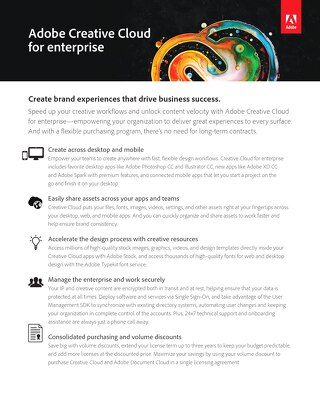 Adobe Creative Cloud for Enterprise