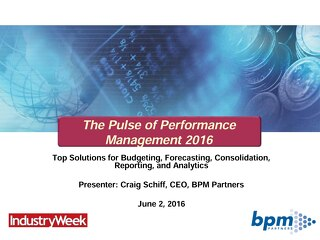 BPM Pulse Survey 2016
