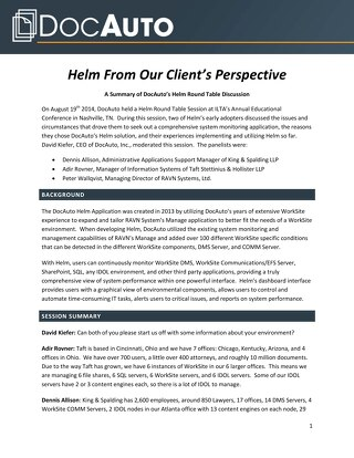 Whitepaper: Why organizations choose Helm