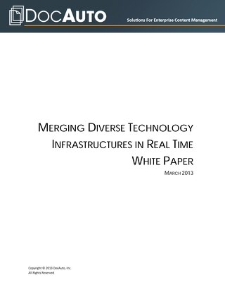 Whitepaper: Merge technology infrastructures