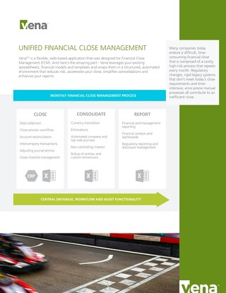 Vena Unified Financial Close Management