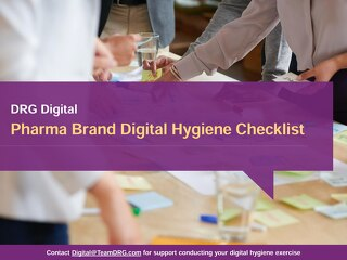 Pharma Brand Digital Hygiene Checklist