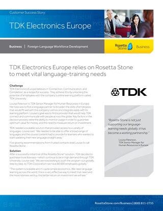 [Case Study] TDK Electronics Europe