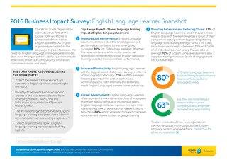 2016 Business Impact Survey: English Language Learner Snapshot