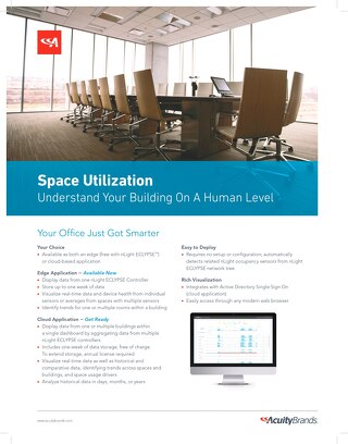 Space Utilization Sell Sheet