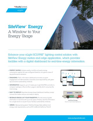 SiteView Energy Sell Sheet