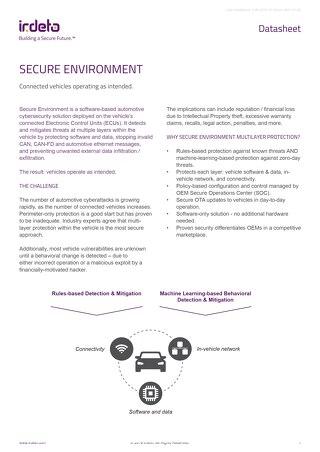 Datasheet: Cloakware Secure Environment