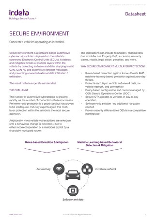 Datasheet: Secure Environment