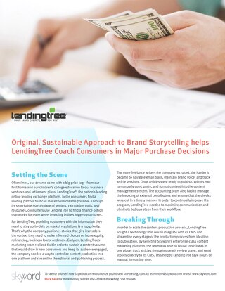 Lending Tree - Skyword Case Study