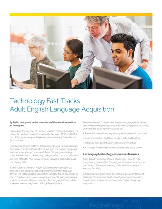 Technology Fast-Tracks Adult English Language Acquisition