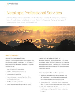 Netskope Professional Services