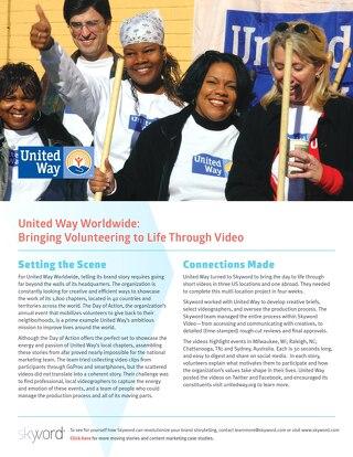 United Way Worldwide - Skyword Case Study