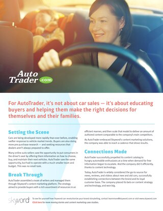 Autotrader - Skyword Case Study
