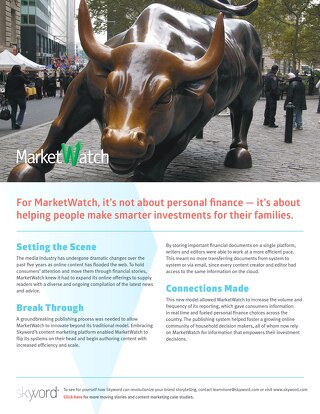 MarketWatch - Skyword Case Study